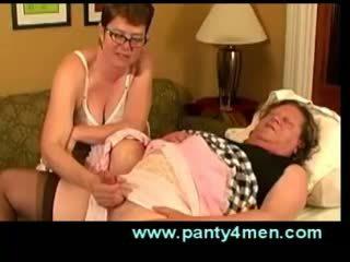 Transvestite handjob