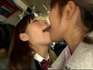 Shocked Japanese Schoolgirl gets fucked on a packed train