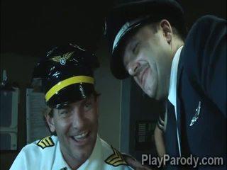I eksituar pilot gets me fat me i madh plaçkë bjonde passenger
