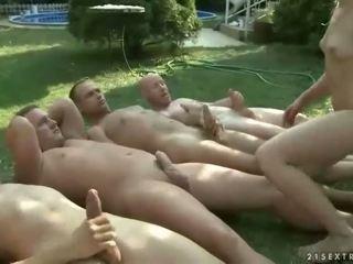 pissing, gang bang
