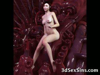 Monsters sperma par 3d babes! video
