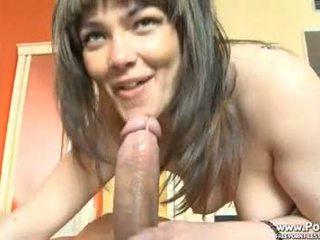 brunette, hq blowjob ideal, hq cumshot