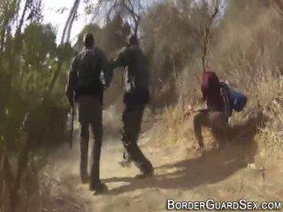 Giovanissima fucks border guard