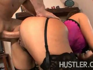 Horny MILF Raylene bending over for big younger cock