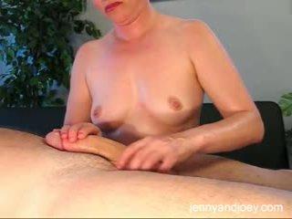 orgasmo, ruivo, closeup