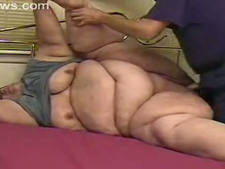 bbw, bestemor, fett