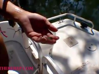 Tiny Asian Thai Heather Deep Goes Fishing and Plays Hide