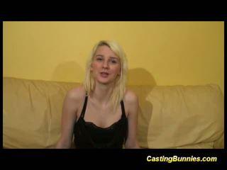 Casting blonde bunny sucking