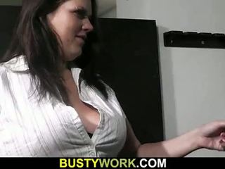 Guy seduces hot bbw bouncer