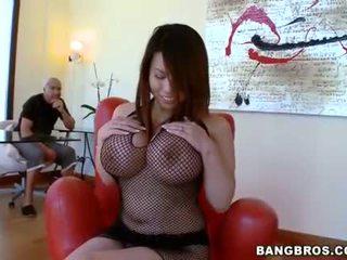 melons, fishnet, boobies
