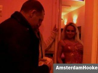 Dutch prostitute sucking off customers dick