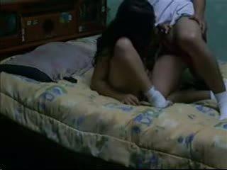 Sex porn & attract dark haired fucks her bf in her dorm
