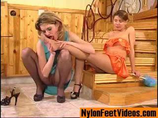 Ninette ja alice eroottinen sukkahousut jalkaa kohtaus