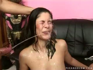 deepthroat, big boobs, pissing