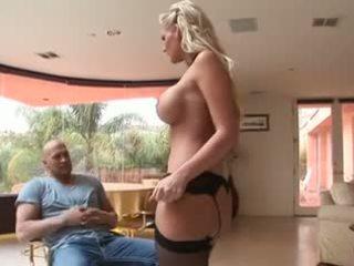 horký kouření sledovat, kvalita blondýnky, sledovat velká prsa každý