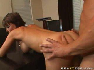 brunette, fucking, big boobs
