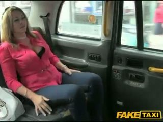 Huge boobs milf fucked with fake driver