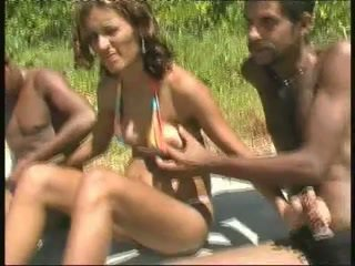 brazilian, black and ebony, gangbang