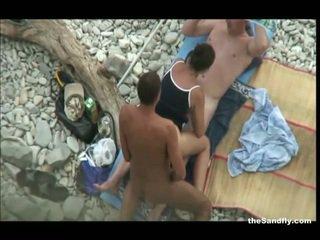 voyeur, pludmale, hot nudism