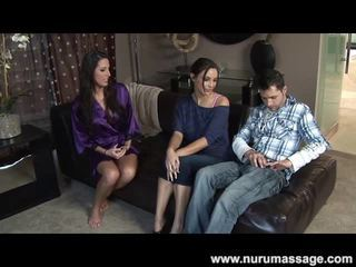Meagre Teenager Soaped Up And Shafting