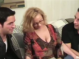 We Were At The Library Looking For Some Books On Kamasutra When We Saw This Sexy Milf Librarian We Knew We Had To Fuck This Sexy Mom We Offered Her Some Cash To Come Back To The Pad And Tutor Us On Some Spanish But The Only Learning That Went On Was Us Le