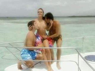 Hot Brunette Likes Sex On Yacht