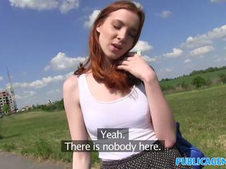 Publicagent 性感 红发 学生 性交 从 背后 上 一 hill
